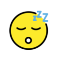 Sleeping Face on OpenMoji 12.0