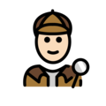 Detective: Light Skin Tone on OpenMoji 12.0