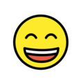 Grinning Face with Smiling Eyes on OpenMoji 12.0