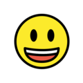 Grinning Face With Big Eyes on OpenMoji 12.0