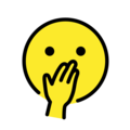 Face With Hand Over Mouth on OpenMoji 12.0