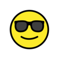 Smiling Face With Sunglasses on OpenMoji 12.0