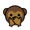 Speak-No-Evil Monkey on OpenMoji 12.0