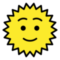 Sun With Face on OpenMoji 2.0