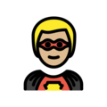 Superhero: Medium-Light Skin Tone on OpenMoji 12.0