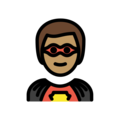 Superhero: Medium Skin Tone on OpenMoji 12.0