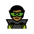 Supervillain: Medium-Dark Skin Tone on OpenMoji 12.0