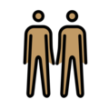 Men Holding Hands: Medium Skin Tone on OpenMoji 12.0