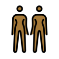 Women Holding Hands: Medium-Dark Skin Tone on OpenMoji 12.0