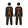 Women Holding Hands: Dark Skin Tone on OpenMoji 12.0