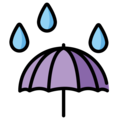 Umbrella With Rain Drops on OpenMoji 2.0