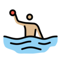 Person Playing Water Polo: Medium-Light Skin Tone on OpenMoji 12.0