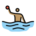 Person Playing Water Polo: Medium Skin Tone on OpenMoji 12.0