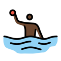 Person Playing Water Polo: Dark Skin Tone on OpenMoji 12.0