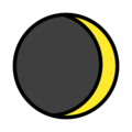 Waxing Crescent Moon on OpenMoji 12.0