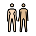 Woman and Man Holding Hands: Light Skin Tone, Medium-Light Skin Tone on OpenMoji 12.0