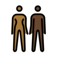 Woman and Man Holding Hands: Medium-Dark Skin Tone, Dark Skin Tone on OpenMoji 12.0