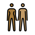 Woman and Man Holding Hands: Medium-Dark Skin Tone, Medium Skin Tone on OpenMoji 2.0