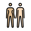 Woman and Man Holding Hands: Medium-Light Skin Tone, Light Skin Tone on OpenMoji 12.0