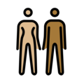 Woman and Man Holding Hands: Medium-Light Skin Tone, Medium-Dark Skin Tone on OpenMoji 12.0