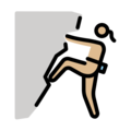 Woman Climbing: Medium-Light Skin Tone on OpenMoji 12.0