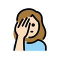 Woman Facepalming: Light Skin Tone on OpenMoji 12.0