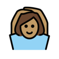 Woman Gesturing OK: Medium Skin Tone on OpenMoji 12.0