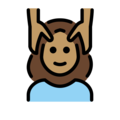 Woman Getting Massage: Medium Skin Tone on OpenMoji 12.0