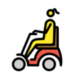 Woman in Motorized Wheelchair on OpenMoji 12.0