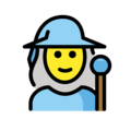 Woman Mage on OpenMoji 12.0