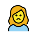 Woman Pouting on OpenMoji 12.0