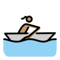 Woman Rowing Boat: Medium Skin Tone on OpenMoji 12.0
