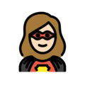 Woman Superhero: Light Skin Tone on OpenMoji 12.0