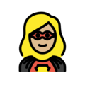 Woman Superhero: Medium-Light Skin Tone on OpenMoji 12.0