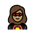 Woman Superhero: Medium Skin Tone on OpenMoji 12.0