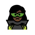 Woman Supervillain: Dark Skin Tone on OpenMoji 12.0