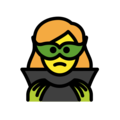 Woman Supervillain on OpenMoji 12.0