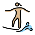 Woman Surfing: Medium-Light Skin Tone on OpenMoji 12.0