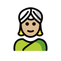 Woman Wearing Turban: Medium-Light Skin Tone on OpenMoji 12.0