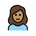 Woman: Medium Skin Tone, White Hair on OpenMoji 12.0