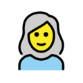 Woman: White Hair on OpenMoji 12.0