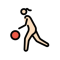 Woman Bouncing Ball: Light Skin Tone on OpenMoji 12.0