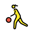Woman Bouncing Ball on OpenMoji 12.0