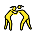Women Wrestling on OpenMoji 2.0