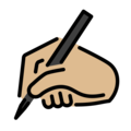Writing Hand: Medium-Light Skin Tone on OpenMoji 12.0