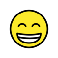 Beaming Face with Smiling Eyes on OpenMoji 12.2