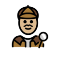 Man Detective: Medium-Light Skin Tone on OpenMoji 12.2