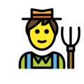 Man Farmer on OpenMoji 12.2