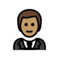 Person in Tuxedo: Medium Skin Tone on OpenMoji 12.2