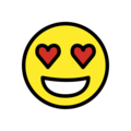 Smiling Face with Heart-Eyes on OpenMoji 12.2